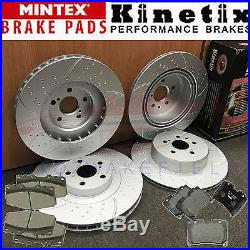 For Toyota Celica 2.0 turbo GT4 ST205 Front Rear dimpled gooved brake discs pads