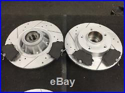 For Vauxhall Vivaro Trafic Brake Disc Pads Cross Drilled Grooved Front Rear