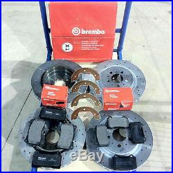 For Volvo S60 V70 R 2.5R Turbo Front Rear Brembo Drilled Brake Discs Pads shoes