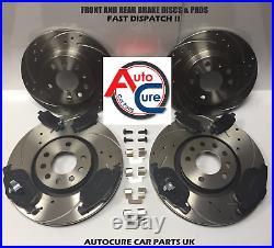 For Vw Golf Gtd 2.0 Tdi Mk7 2013 Front & Rear Drilled Brake Discs + Pads