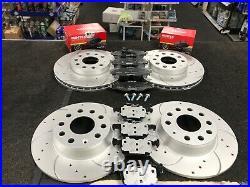 For Vw Golf Mk7 2.0gtd Bluemotion Brake Disc Cross Drilled Grooved Brake Pads