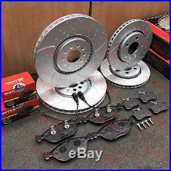 For Vw Golf R32 Mk4 Audi Tt 3.2 Front Rear Brake Discs Mintex Brake Pads Set