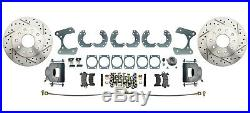 Ford 9 Rear Disc Brake Kit No E-Brake Drilled/ Slotted Rotors