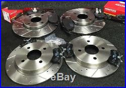 Ford Fiesta 2.0 St150 Front Rear Cross Drilled Grooved Brake Discs Pads