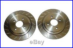 Ford Focus ST170 Front and Rear Brake Discs and Mintex Pads Grooved Performance