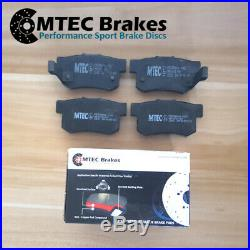 Ford Focus ST225 2.5 Front Rear Drilled Grooved Brake Discs Plus MTEC Pads
