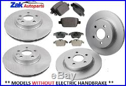 Ford S-max (2006-2013) Front And Rear Brake Discs And Brake Pads Set New
