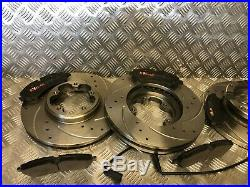 Ford Transit Custom Front & Rear DRILLED & GROOVED Discs & Pads 2.2TDCi 2012