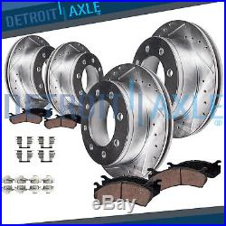Front 331mm Rear 326mm Brake Rotor Pad 4WD 2000-04 Ford Excursion F-250 F-350 SD