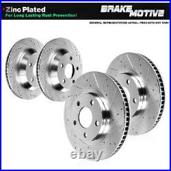 Front And Rear Brake Disc Rotors For 2007 2008 2009 2010 BMW 335i 335xi 335d