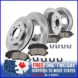 Front And Rear Brake Rotors And Ceramic Pads For Toyota 4Runner Fj Cruiser