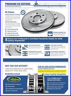 Front And Rear Brake Rotors & Ceramic Pads For Nissan Frontier Xterra Equator