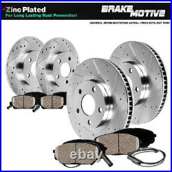 Front And Rear Drill Slot Brake Rotors Ceramic Pads For VW Beetle Golf Jetta
