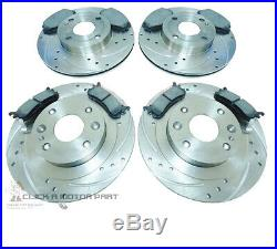 Front And Rear Drilled & Grooved Brake Discs Mintex Pads For Mazda Mx5 1.8