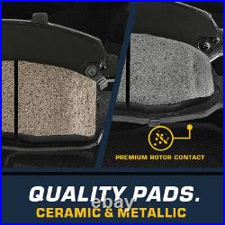 Front And Rear Rotors Ceramic Pads For Subaru Legacy 2.5i 3.0R Outback 2.5 XT