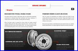 Front Brake Rotors + Ceramic Pads Rear Brake Drums + Shoes For Ford F-150