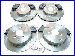 Front & Rear Brake Discs & Pads (size Req) For Toyota Celica 1.8 Vvti 140 190