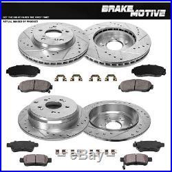 Front+Rear Brake Rotors And Ceramic Pads For 2005 2008 2009 2010 Honda Odyssey
