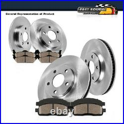 Front+Rear Brake Rotors And Ceramic Pads For Hyundai Sonata Kia Optima