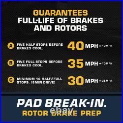 Front+Rear Brake Rotors & Ceramic Pads For 1998 1999 2000 2001 2002 Honda Accord
