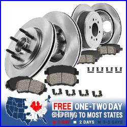 Front+Rear Brake Rotors & Ceramic Pads For 2006 2007 2008 Ford F150 Mark LT 2WD
