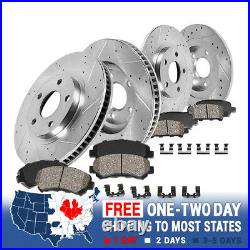 Front+Rear Brake Rotors Ceramic Pads For 2007 2008 2009 -2016 2017 Jeep Wrangler