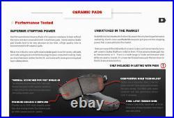 Front+Rear Brake Rotors Ceramic Pads For 2009 2010 2011 2012- 2017 Nissan Maxima