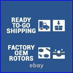 Front+Rear Brake Rotors + Ceramic Pads For 2010 2017 Chevy Equinox GMC Terrain