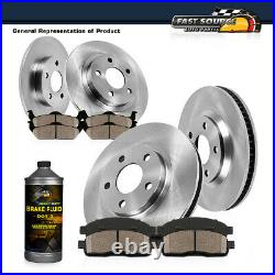Front+Rear Brake Rotors Ceramic Pads For 2012 2013 2014 2015 2017 Toyota Camry