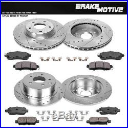 Front+Rear Brake Rotors Ceramic Pads For 2013 -2015 2016 2017 2018 Nissan Altima