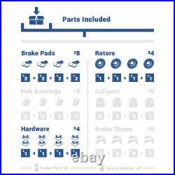 Front+Rear Brake Rotors & Ceramic Pads For Mazda 6 Ford Fusion MKZ Milan Zephyr