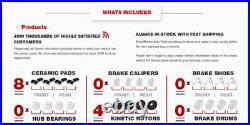 Front+Rear Brake Rotors +Ceramic Pads For Sebring Avenger Compass Patriot Lancer