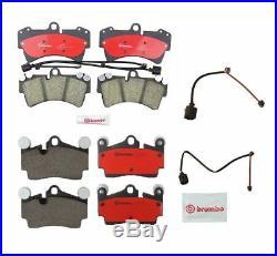 Front & Rear Disc Brake Pad Set and Sensors BREMBO FOR Audi Q7 VW Touareg