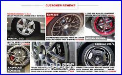 Front & Rear Drill And Slot Brake Rotors For 2009 2013 Acura TSX Honda Accord