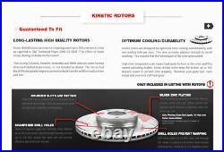 Front+Rear Drill Brake Rotors And Ceramic Pads For 2003 2007 2008 Honda Pilot