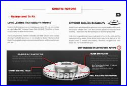Front+Rear Drill Brake Rotors +Ceramic Pads For 2014 2015 2016 2017 Infiniti Q50