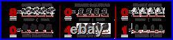 Front+Rear Drill Brake Rotors and Ceramic Pads For 2008 2009 2010 Honda Accord