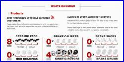 Front+Rear Drill Slot Brake Rotors And Ceramic Pads For 1963 1982 Corvette C3