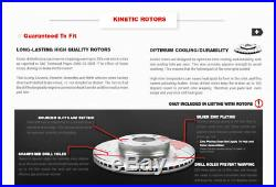 Front+Rear Drill Slot Brake Rotors And Ceramic Pads For Enclave Traverse Outlook