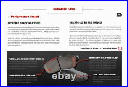 Front+Rear Drill Slot Brake Rotors + Ceramic Pads For 2006 2016 Toyota Rav 4