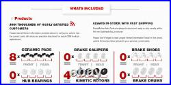 Front+Rear Drill Slot Brake Rotors Ceramic Pads For 2012 2014 2015 Honda Pilot