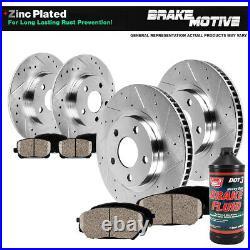 Front+Rear Drill Slot Brake Rotors +Ceramic Pads For Allure Lacrosse Grand Prix