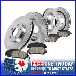 Front & Rear Drill Slot Brake Rotors & Ceramic Pads For Infiniti G35 Nissan 350Z