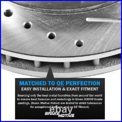 Front & Rear Drill Slot Brake Rotors & Ceramic Pads For Q5 Audi A4 A5 Allroad