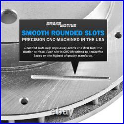 Front+Rear Drill Slot Brake Rotors For Chevy Silverado 1500 GMC Sierra Yukon