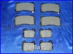 Front Rear Drilled + Grooved Brake Discs Pads For Mitsubishi Lancer Evo 6 7 8 9