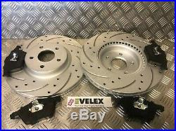 Front & Rear Drilled Grooved Brake Discs + Pads Kit Ford Focus St225 Oe Quality