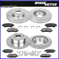 Front+Rear Drilled Slotted Brake Rotors And Ceramic Pads Kit For Nissan Maxima