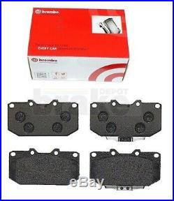 Front Rear Grooved Brake Discs Brembo Pads for Impreza WRX Turbo Dimpled Grooved