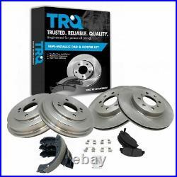 Front & Rear Posi Metallic Disc Brake Pads Rotors Shoes & Drum Kit for Civic